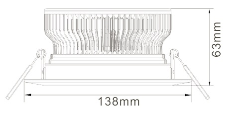 12W LED Ceiling Light Heat Sink-STH12