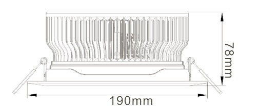 24W LED Ceiling Light Heat Sink-STH24